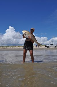 Surf Fishing is Fine at Blue Water RV Resort