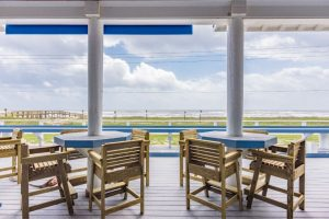 Gulf of Mexico deck at Blue Water RV Resort